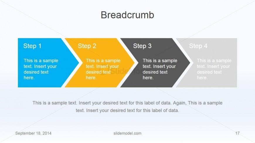 Flat Business Chevron Breadcrumb Slide Design
