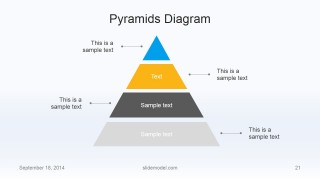Flat Business Pyramid Slide Design 4 Levels