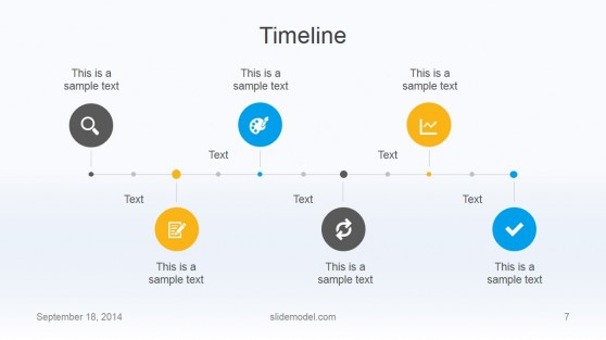 Flat Business Timeline Template Design