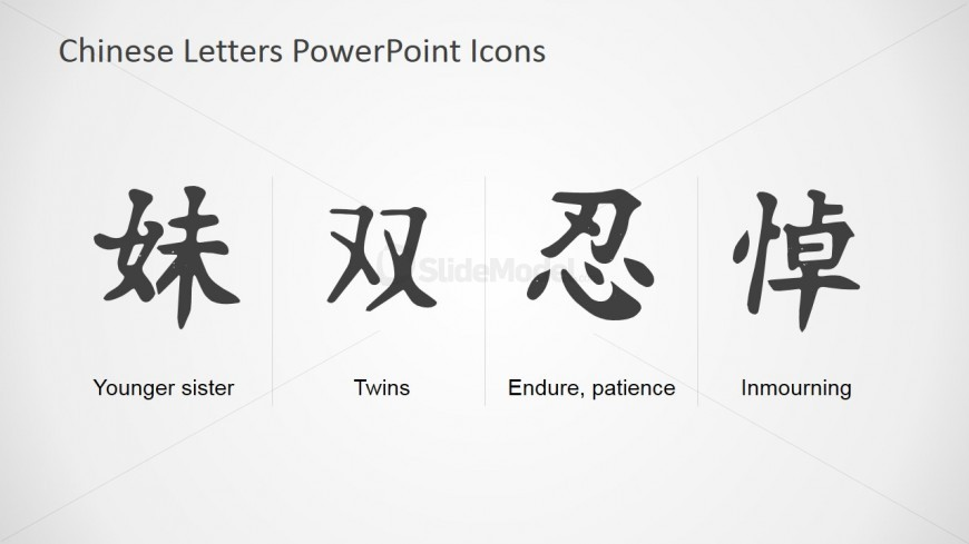 Chinese Symbols And Meanings Powerpoint Template Slidemodel