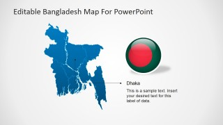 PowerPoint Political Outline Map of Bangladesh