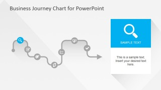Flat Business Journey Chart Search Slide