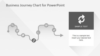 Flat Business Journey Chart Reload Slide