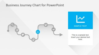 Flat Business Journey Chart Line Chart Slide