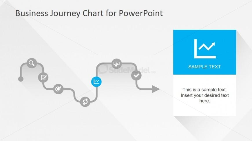 Flat Business Journey Chart Line Chart Slide