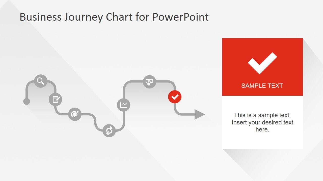 Flat Business Journey Chart Check Mark Slide