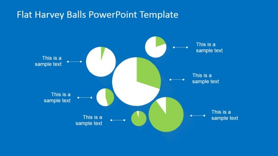 Harvey Ball Pie Chart Layout for PowerPoint