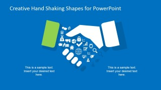 Creative Hand Shaking Clipart for PowerPoint