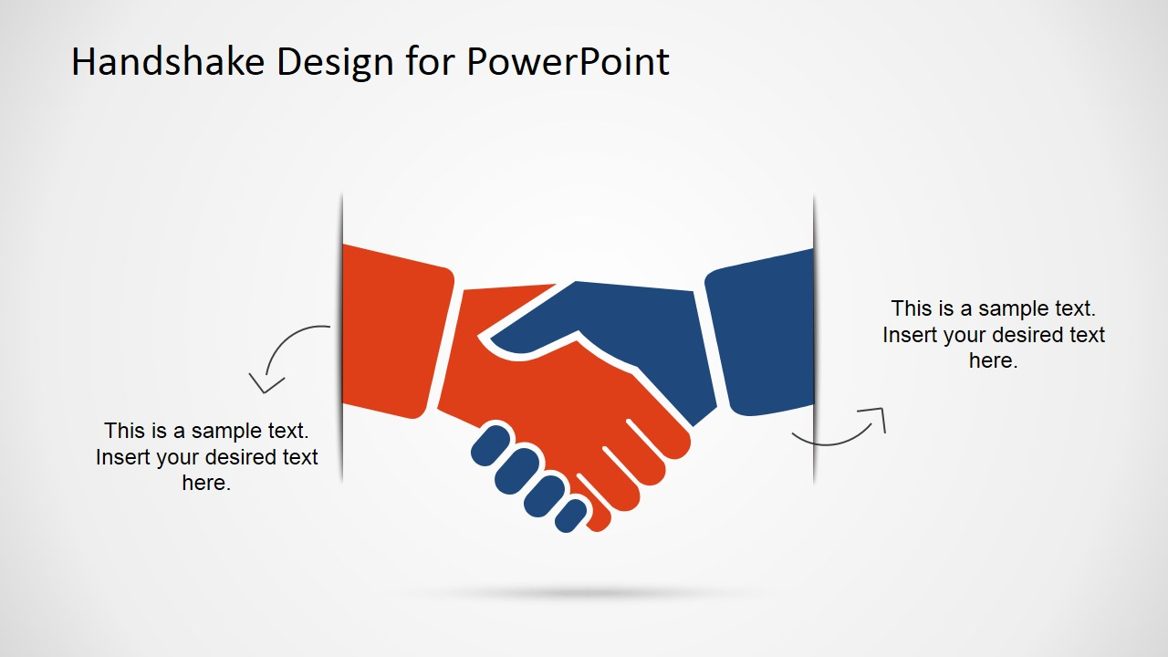 handshake design template for powerpoint