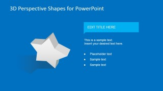 3D Star Clipart for PowerPoint