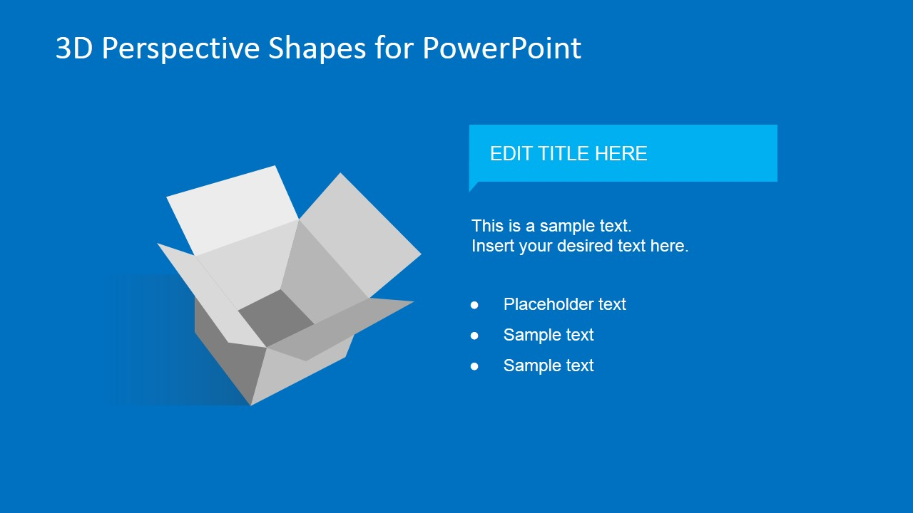 3D Perspective Shapes for PowerPoint - SlideModel