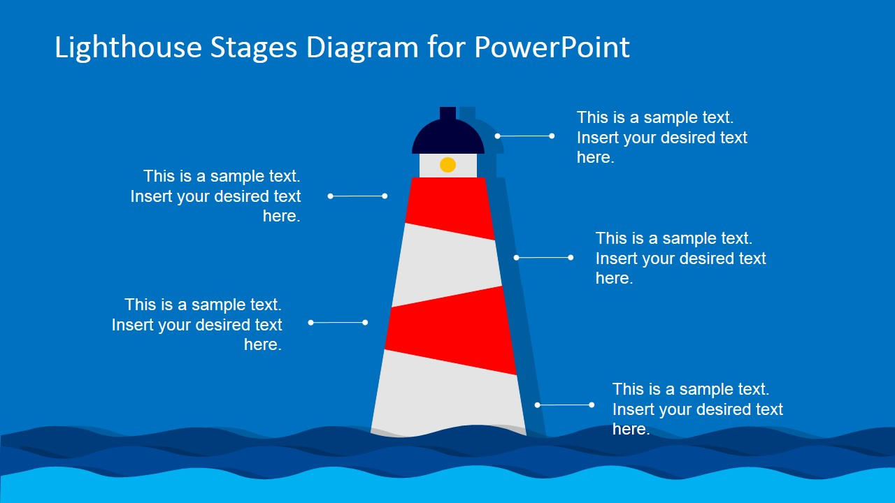 Lighthouse Powerpoint Diagram Slide Design Slidemodel