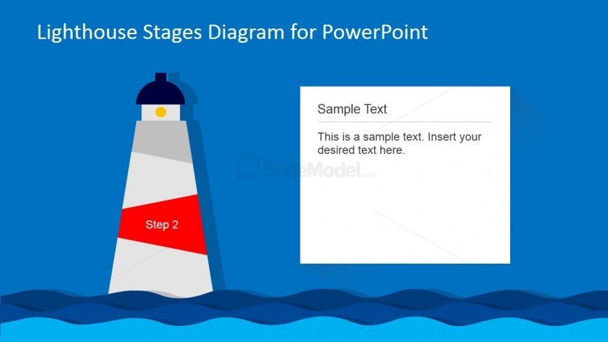 Lighthouse PowerPoint Diagram 2nd Level