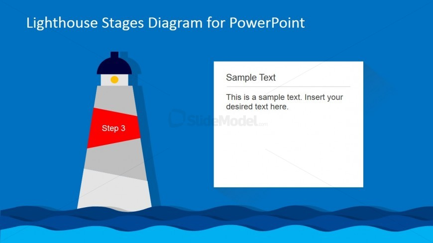 Lighthouse PowerPoint Diagram 3rd Level