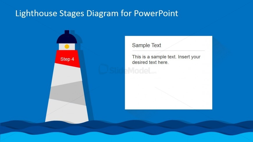 Lighthouse PowerPoint Diagram 4th Level