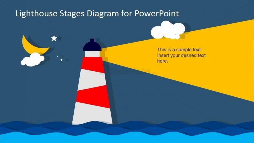 Lighthouse at Night PowerPoint Slide Design