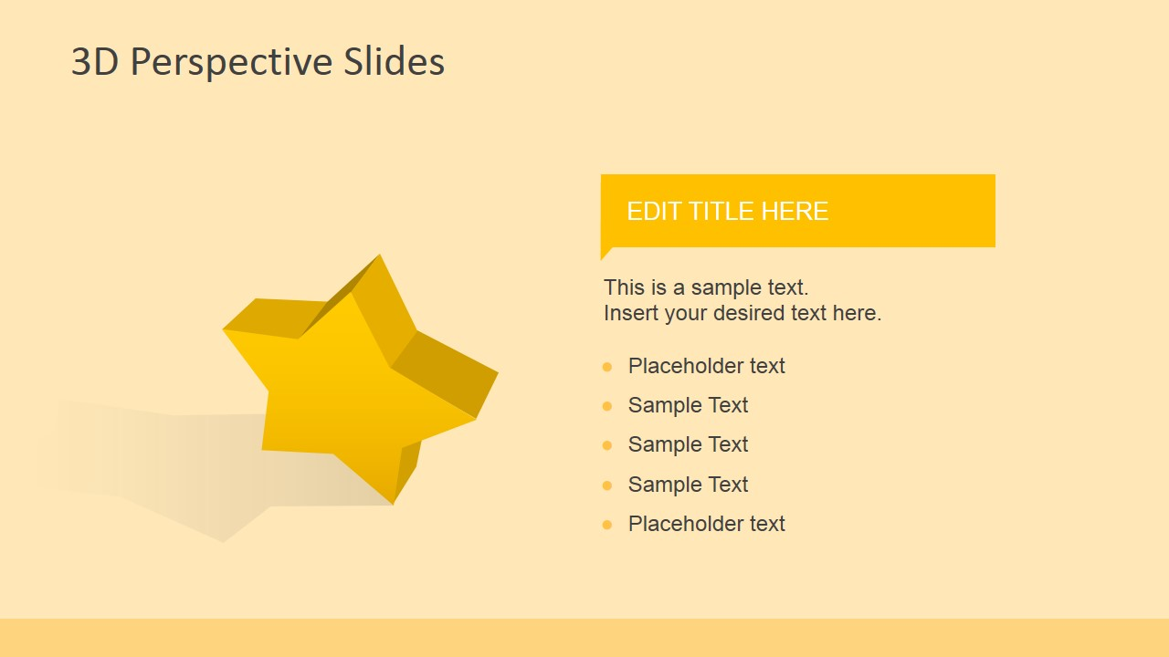 3d Perspective Icons For Powerpoint Slidemodel Stars Diagram Template Is A Presentation Design Star