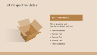 3D Opened Box Shape for PowerPoint Presentations