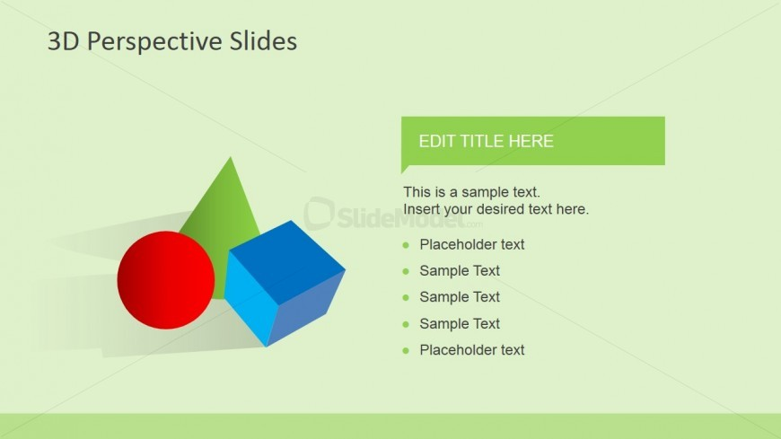 Colorful 3D Shapes for PowerPoint