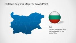Bulgaria Sofia City Marker PowerPoint Slide Design