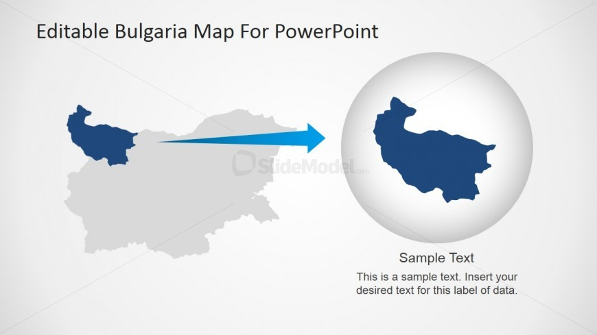 Editable Map PowerPoint Slide
