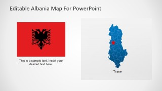 PowerPoint Template for Albania Map