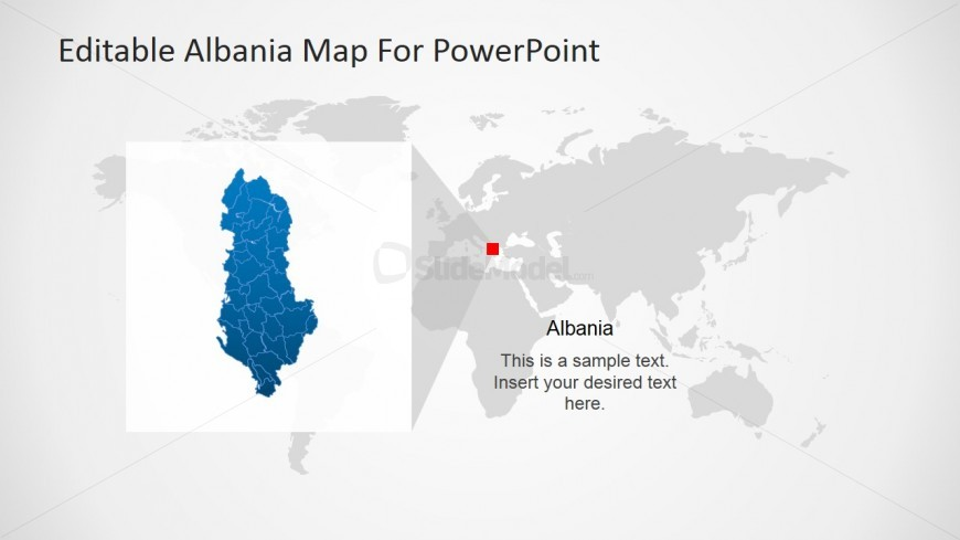 Powerpoint template for albanian geography slidemodel geography and maps powerpoint template toneelgroepblik Image collections