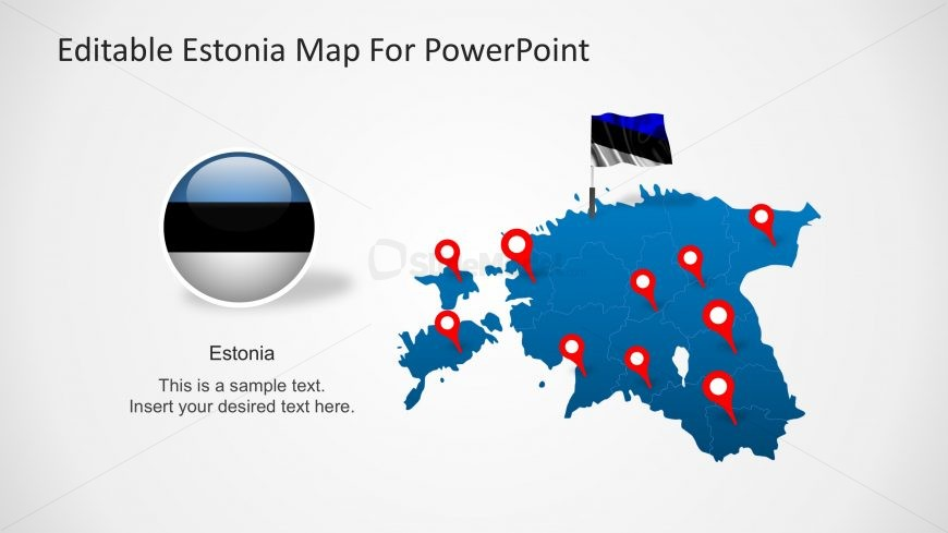 PPT Map of Estonia