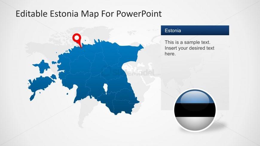 GPS Marker for Estonia PPT Map