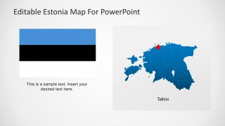 PPT Map of Estonia with Flag
