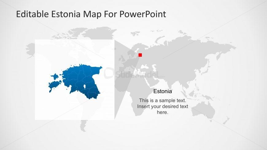 PPT Map of Estonia in Worldmap