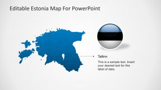 PPT Map of Estonia with City Marker