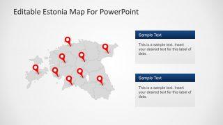 PPT Political Map of Estonia