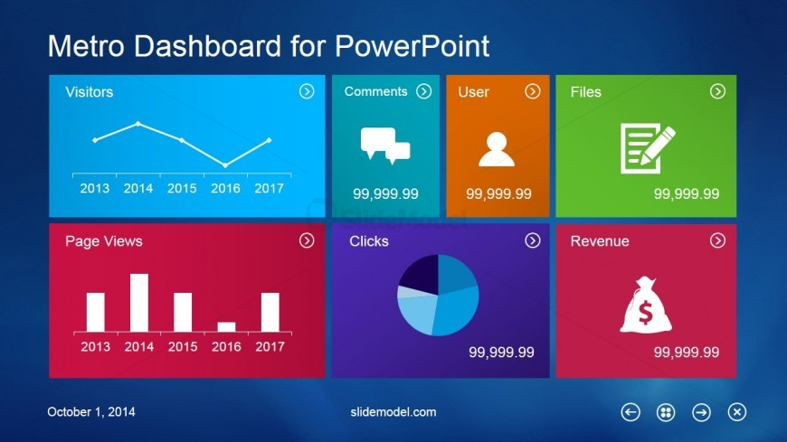 Metro Dashboard UI PowerPoint Template