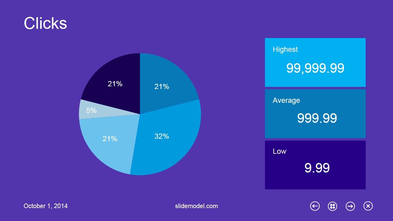 Metro Pie Chart Design for PowerPoint