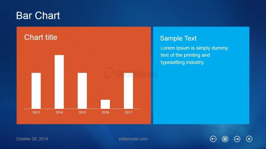 Bar Chart Metro UI Slide Design for PowerPoint