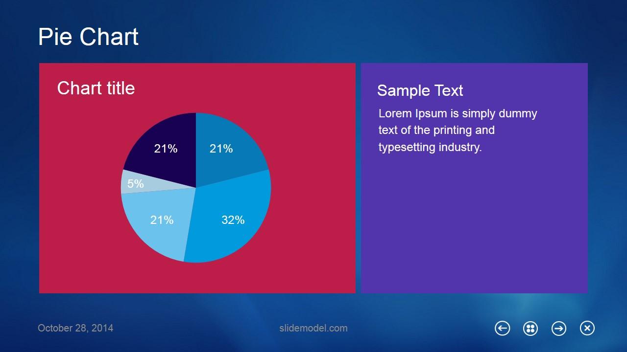 Pie Chart Metro UI Slide Design for PowerPoint