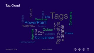 Tag Cloud Slide Design for PowerPoint