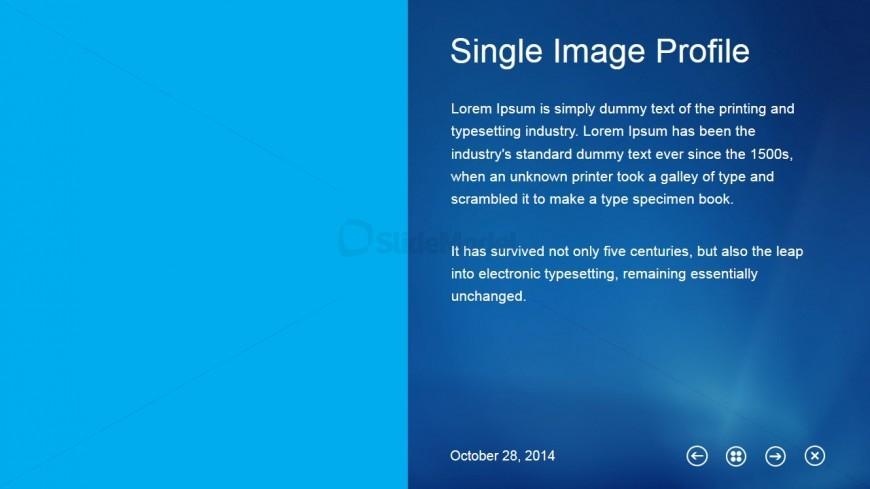 Single Image Profile Slide Design for Placeholder