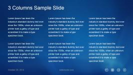 3 Columns Metro UI Slide Design