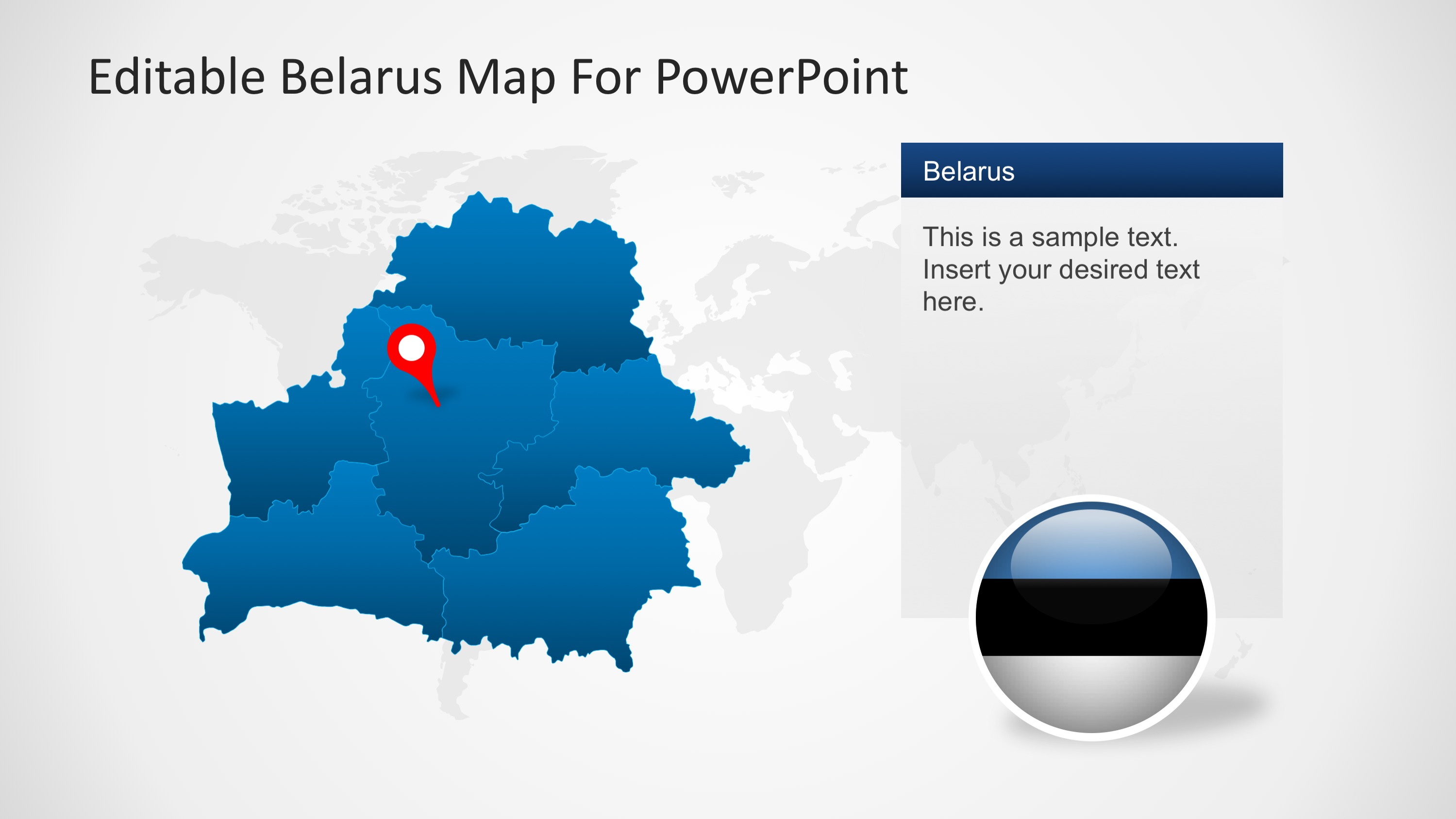 PowerPoint Map of Belarus with Highlighted States