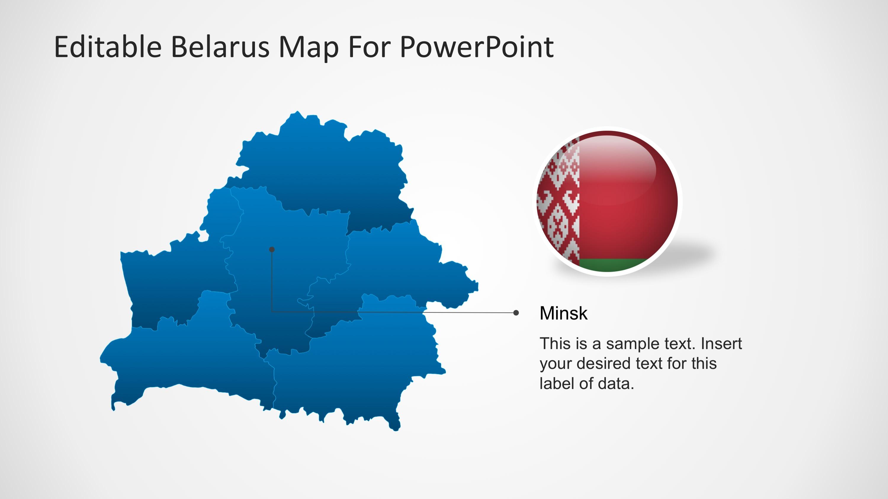 PPT Belarus Maps Templates