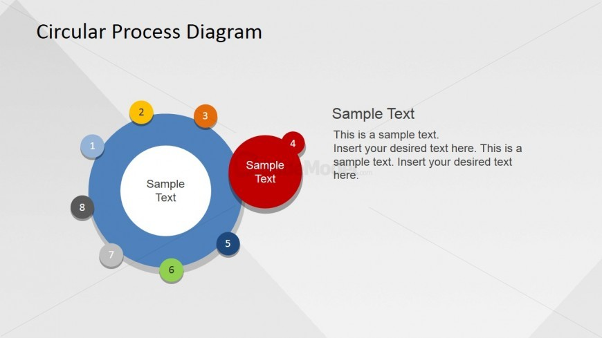 Circle PowerPoint Slide for Business Seminars