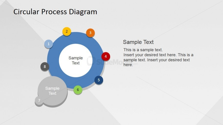 Procedure Presentation in Circle PowerPoint Template