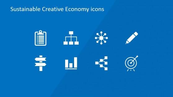Creative Economy Methodology PowerPoint Icons
