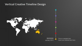 Australia Continental Vertical Timeline Design for PowerPoint