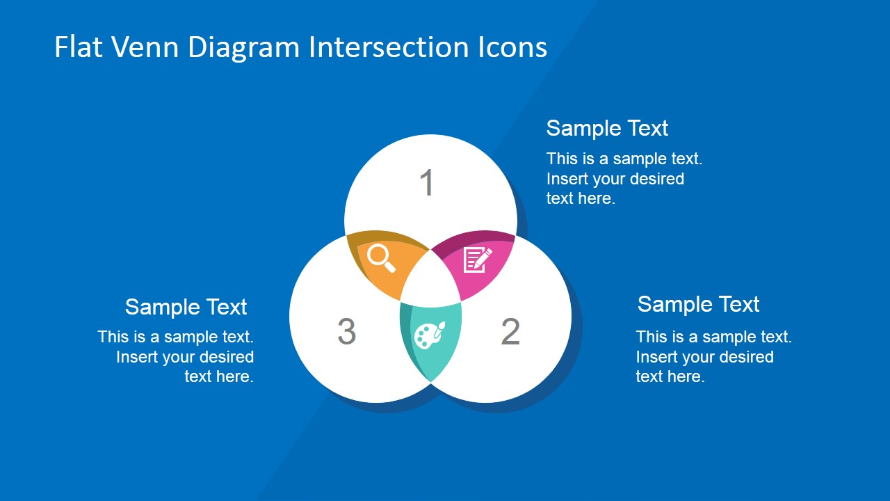 Flat venn diagram intersection icons slidemodel powerpoint venn diagram icons intersections ccuart Image collections