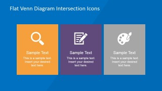 PowerPoint Clipart Icons in Three Vertical Layout Columns
