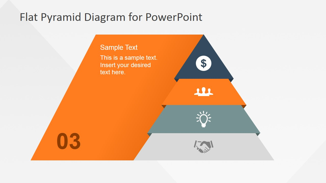 4 Levels Flat Pyramid Diagram Template for PowerPoint - SlideModel