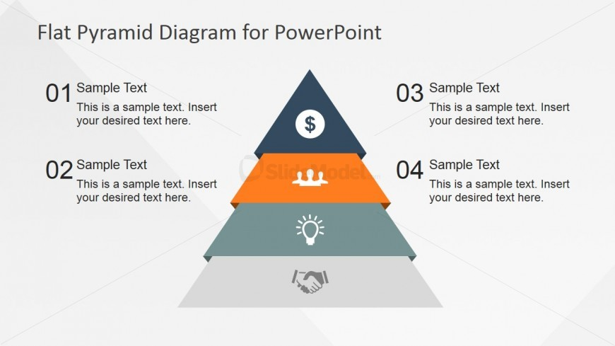 Segmented Pyramid Design with Flat Style for PowerPoint